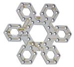 "PixNode CoroFlakeâ""¢ Hex Snow Flake for Smart / Dumb Nodes and Mini-Lights  - 12 24 36 48 Inches"
