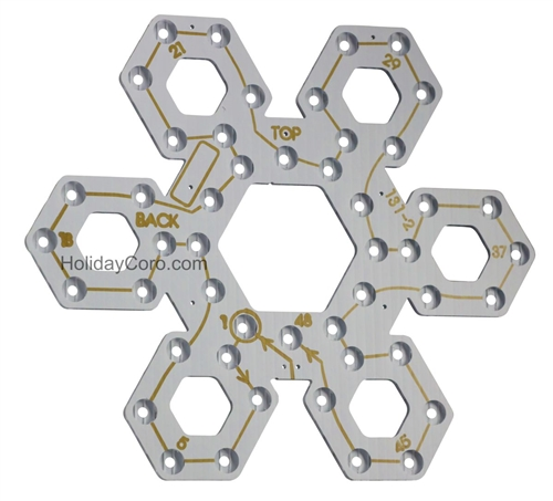 "PixNode CoroFlakeâ""¢ Hex Snow Flake for Smart / Dumb Nodes and Mini-Lights  - 12 24 36 Inches"