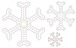 "PixNode CoroFlakeâ""¢ 2 Prong Snow Flake for Smart / Dumb Nodes - 12 24 36 Inches"