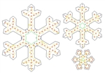 "PixNode CoroFlakeâ""¢ 3 Prong Snow Flake for Smart / Dumb Nodes - 12 24 36 Inches"