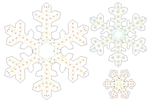 "PixNode CoroFlakeâ""¢ 3 Prong Fancy Snow Flake for Smart / Dumb Nodes - 12 24 36 Inches"
