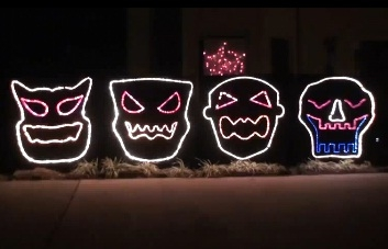 the singing monster faces from holidaycorocom - Halloween Sequences