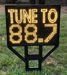 "FM Radio Frequency ""Tune To"" Sign - For LED and Incandescent Mini Lights (Lights not included)"