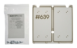 "Two 350w ""Meanwell"" Style Power Supplies to CableGuard CG-1500 Mounting Plate Adapter Kit (Base Mount)"