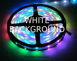 DISCONTINUED:  Smart / Pixel RGB LED Strip / Ribbon 30 LEDs/m 10 Pixels/m Waterproof Tube (16ft-6in/5 meter Roll) - 12v / 2811 / Heavy Duty / White PCB