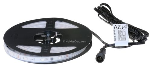 Smart / Pixel RGB LED Strip 30 LEDs/m 10 Pixels/m / Pre-Attached 10ft EasyPlug3 Input Cable / Waterproof Tube (16ft-6in/5 meter Roll) - 12v / 2811 or 1903 / RGB Color Output Order