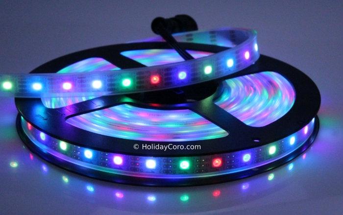 sports shoes ba710 c7885 Smart / Pixel LED RGB Strip 30 LEDs/m 30 Pixels/m Waterproof Tube  (16ft-6in/5 meter Roll) - 12v / INK1003 (WS2812) - Waterproof EasyPlug3  Input and ...