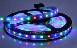 Smart / Pixel LED RGB Strip 30 LEDs/m 30 Pixels/m Waterproof Tube (16ft-6in/5 meter Roll) - 12v / INK1003 (WS2812) - Waterproof EasyPlug3 Input and Output Cables