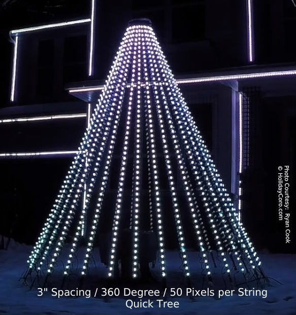 Quicktree pixel megatree 9 5 ft tall 9 ft wide for 180 degrees christmas decoration