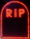 RIP Tombstone Grave Marker - LED/Incandescent Mini Lights