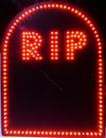 Rip Tombstone Grave Marker Led Incandescent Mini Lights