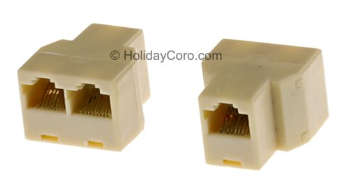 3 Way Female CAT5 Splitter / Combiner 1F/2F 8P8C