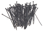 "Zip Tie - 4"" Black (Package of 100)"