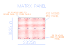 PixNode Rigid Modular Matrix Panel for Smart / Dumb Nodes