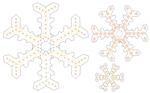 "PixNode CoroFlakeâ""¢ 2 Prong Fancy Snow Flake for Smart / Dumb Nodes - 12 24 36 Inches"