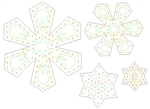 "PixNode CoroFlakeâ""¢ Star Snow Flake for Smart / Dumb Nodes - 12 18 24 36 Inches"