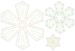 "PixNode CoroFlakeâ""¢ Diamond Snow Flake for Smart / Dumb Nodes - 12 24 36 Inches"