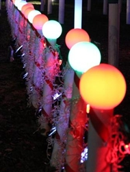 "RGB Candy Cane Post Topper Ball for 4"" PVC Posts (Globe Not Included)"