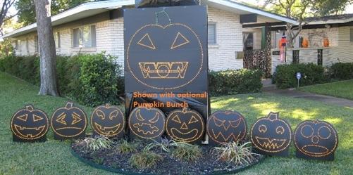Singing Pumpkin Face for Incandescent or LED Mini Lights (46