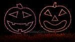 Singing Pumpkin Bunch Faces for Mini Lights (Eight Individual Pumpkins)