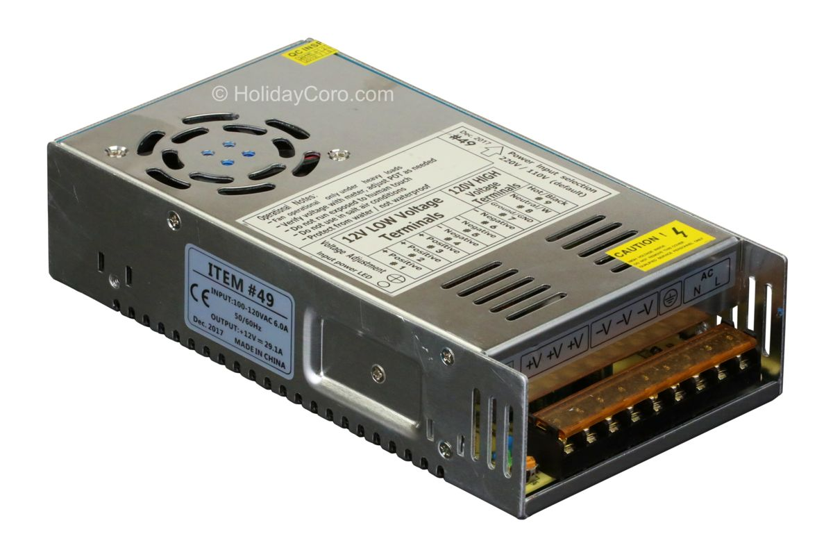 Power Supply 12v 29 Amps 350 Watts Output The Dmx Over Cat5 System Is Not To Be Confused With
