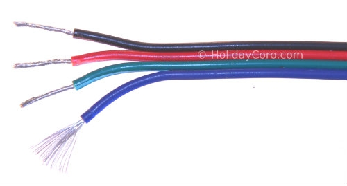 18 4 Wire | 100ftt Roll Of Four Conductor 18 Awg Extension Wiring For Rgb Lights