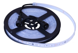 Smart / Pixel RGB LED Strip 30 LEDs/m 10 Pixels/m / Pre-Attached 6in EasyPlug3 Input and Output Cables / Waterproof Tube (16ft-6in/5 meter Roll) - 12v / 2811 / RGB Color Output Order