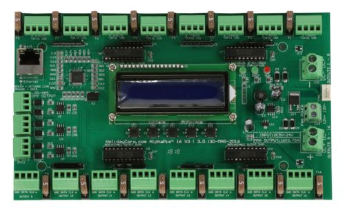 AlphaPix Classic 16 V3 - E1.31 & ArtNet to SPI Pixel Controller w/LCD Display - 16 SPI + 3 RS485 Outputs