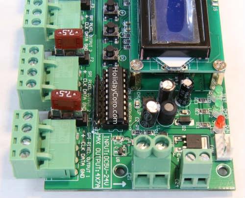 AlphaPix Classic 4 V3 - E1 31 & ArtNet to SPI Pixel Controller w/LCD  Display - 4 SPI + 1 RS485 Outputs