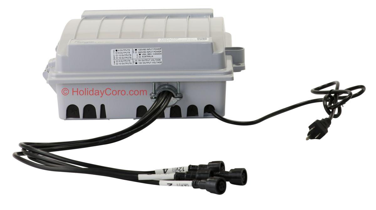 4 Output AlphaPix E1.31 Controller + 350 Watts of Power + Enclosure ...